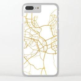 KIEV UKRAINE CITY STREET MAP ART Clear iPhone Case