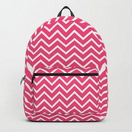 Pink Chevron Pattern Backpack