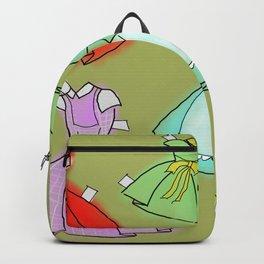 1950's paper doll dresses Backpack