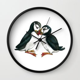 I Puffin Love You Wall Clock