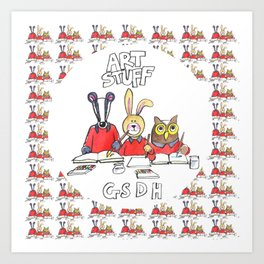 Kids Art Bag Art Print