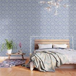Blue Rhapsody on white Wallpaper