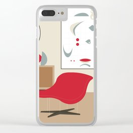 Inside Mid-century modern 119 Clear iPhone Case