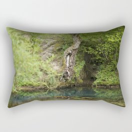 River spring in the forest Rectangular Pillow