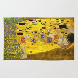 The Lovers Kiss After Klimt Rug