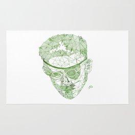 James Joyce - Hand-drawn Geometric Art Print - Green Gradient Rug