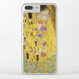 The Kiss by Gustav Klimt Clear iPhone Case