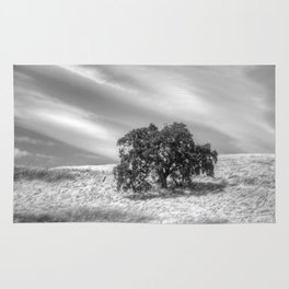 Oak Tree On A Hill Rug