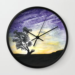 Lone Tree Wall Clock