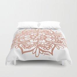 Rose Gold Mandala Duvet Cover