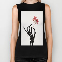 Skeleton Hand with Flower Biker Tank