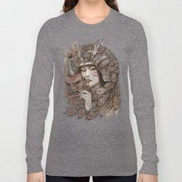 Peacock Samurai Long Sleeve T-shirt