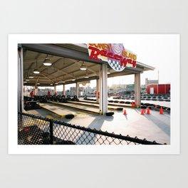 Coney Island Raceway Art Print