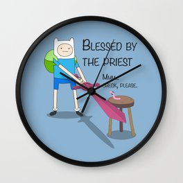 Blessed by the Priest Wall Clock