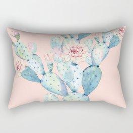 Rose Desert Cactus on Pink by Nature Magick Rectangular Pillow