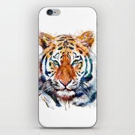 Tiger Head watercolor iPhone Skin