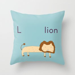 L is for Lion Throw Pillow