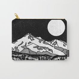 Mount Shasta Black and White Carry-All Pouch