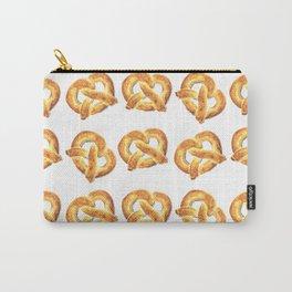 Watercolor Pretzel Pattern Carry-All Pouch