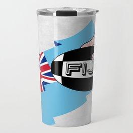 Fiji Rugby Flag Travel Mug