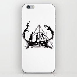 The Three Brothers Inktober Drawing iPhone Skin