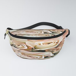 Delicate Peach Roses Fanny Pack
