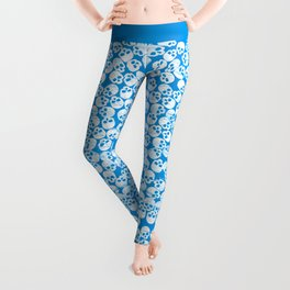 blue skull Leggings