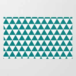 Triangles (Teal/White) Rug