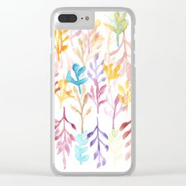 Watercolour Tree 3 Clear iPhone Case