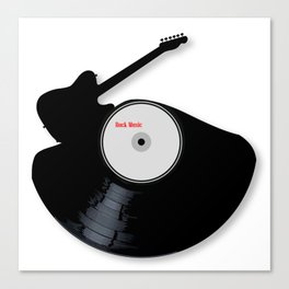 Rock Music Silhouette Record Canvas Print