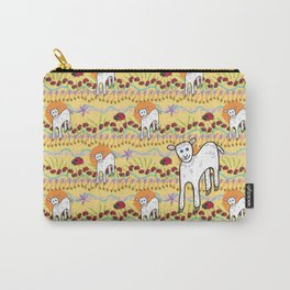 © Little Lamb with ladybugs pattern Carry-All Pouch