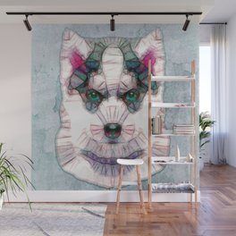 abstract husky puppy Wall Mural