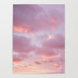 Unicorn Sunset Peach Skyscape Photography Poster
