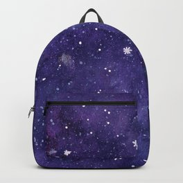 Watercolor galaxy - purple Backpack