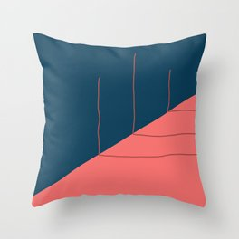 Three Sticks Are Bleached Over Time in the Fire of a Blackened Sky Throw Pillow