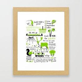 London Parks Framed Art Print