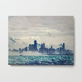 Blue Wave Chicago Metal Print