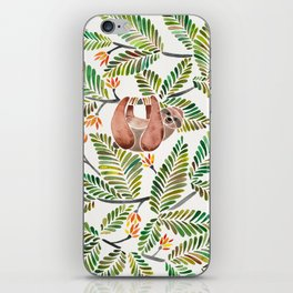 Happy Sloth – Tropical Green Rainforest iPhone Skin
