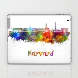 Harvard skyline in watercolor Laptop & iPad Skin