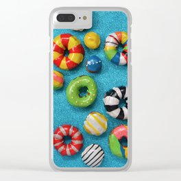 Carnival Donuts Clear iPhone Case