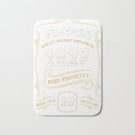 90th-Birthday-Gift-Gold-Vintage-1927-Aged-Perfectly Bath Mat