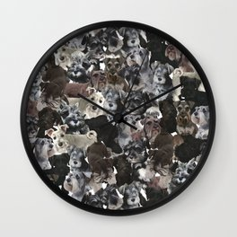 Schnauzer Collage Realistic Wall Clock