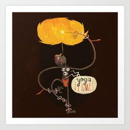 Yoga Flame Art Print