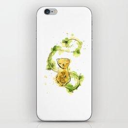 Lemur Green Tea Watercolour Illustration iPhone Skin