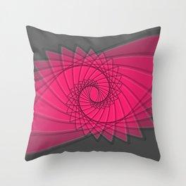 hypnotized - fluid geometrical eye shape Throw Pillow