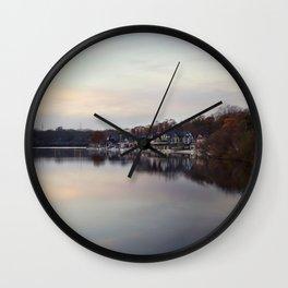 Boat House Row, Philadelphia Wall Clock
