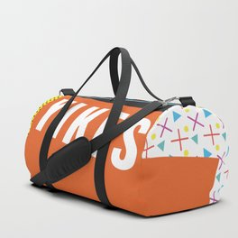 Bright Memphis Throwback Retro 1990s 80s Trendy Hipster Pattern Coral Duffle Bag