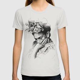 Frida Kahlo - pencil portrait T-shirt