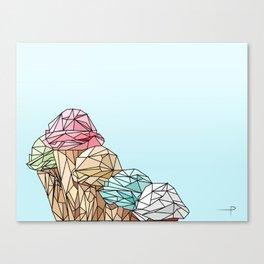 IceCream outline structure Canvas Print