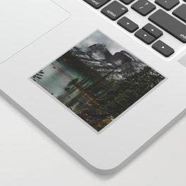 Landscape Maligne Lake Island Sticker